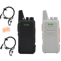 שני הדרך 2pcs WLN KD-C1 / KD-C2Walkie Talkie UHF 400-470 מגהרץ 5W כוח 16 ערוץ Kaili MINI כף יד משדר C1 שני הדרך רדיו C2 (1)