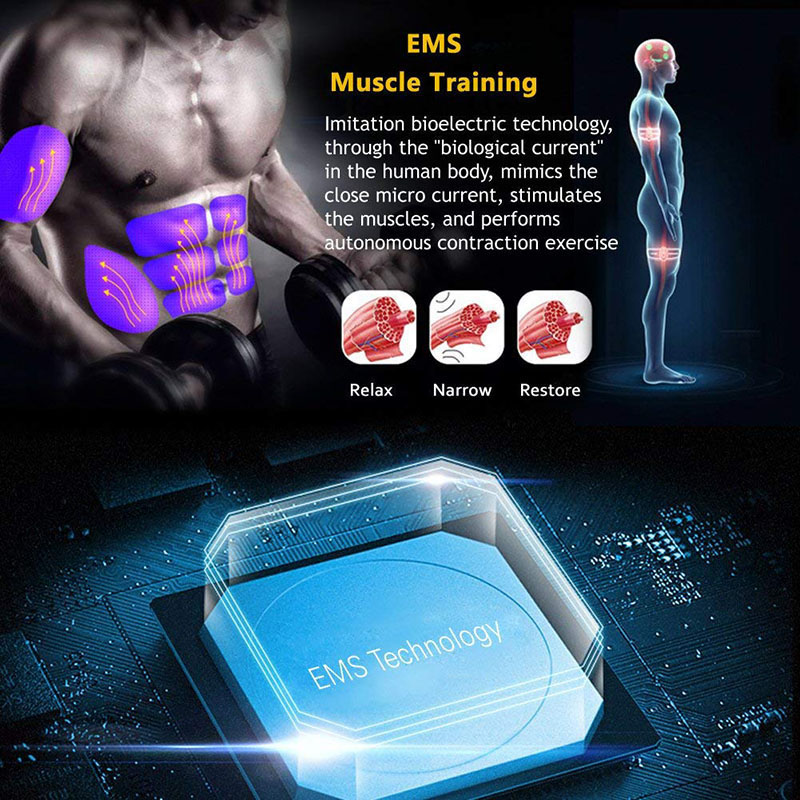 Muscle Stimulateur Abdominal Musculaire Electrostimulation Electro Stimulator ABS EMS Home Gym Belly Arm Leg Massage USB Charged (7)