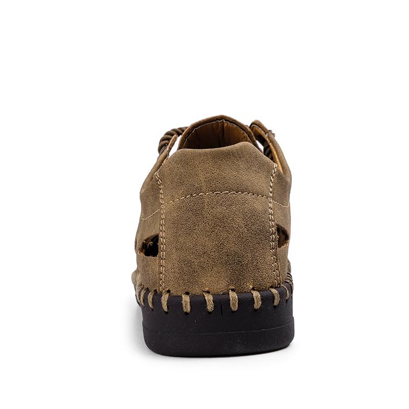 Летние босоножки из натуральной кожи для Для мужчин Повседневное пляжная прозрачная обувь