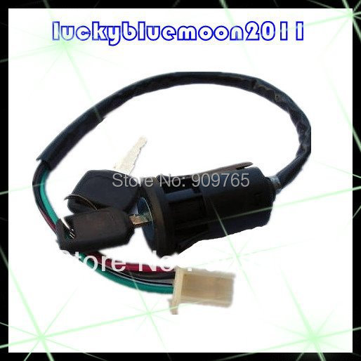 New Off Road Motorcycle 4 wire Ignition Switch & Lock with key Chinese ATVs GY6