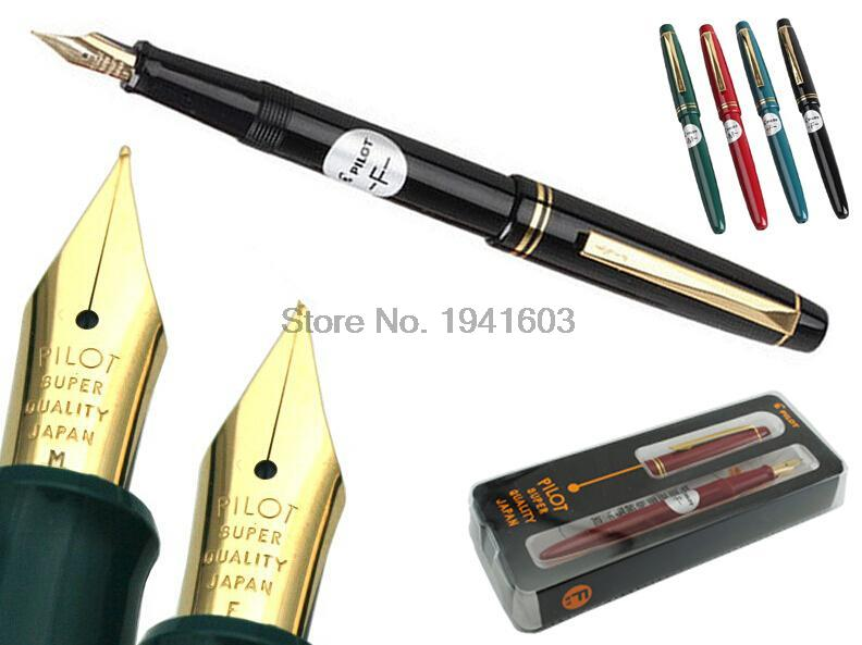 One Pcs Fountain pen F / M Nib Original JAPAN PILOT 78G Signature pen office school stationery New original packing Free Shiping italic nib art fountain pen arabic calligraphy black pen line width 1 1mm to 3 0mm