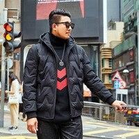 2019 Winter New brand Men's Park Warm jacket Men's Thick Outer Hood Black Cotton coat More Size XXXL 6XL 7XL
