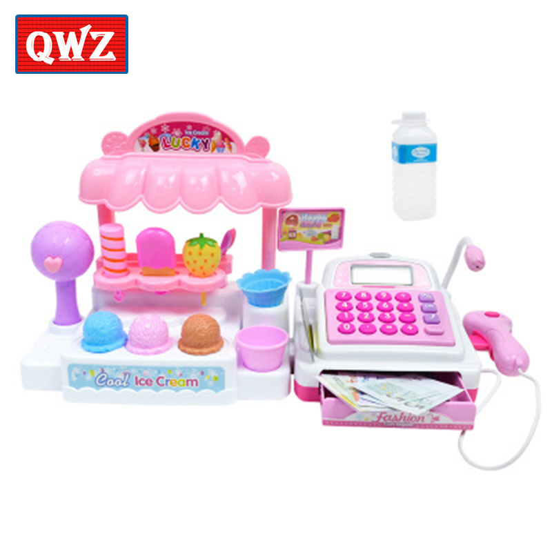 Children's simulation supermarket cash register ice cream ice cream checkout girl play house toy interactive gift for children