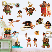 Clearance Cartoon Moana Diy Wall Stickers For Kids Rooms Bathroom Sticker Refrigerator Home Decor Dreamwork Movie