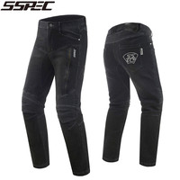 2018 SSPEC High quality Motocross jeans men's motorcycle jeans pants protection equipment moto pants racing trousers plus size