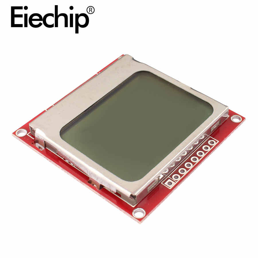 LCD TFT Display Module Monitor White Backlight Adapter PCB 84*48 84x48 for Nokia 5110 Screen Dot Matrix Digital For Arduino