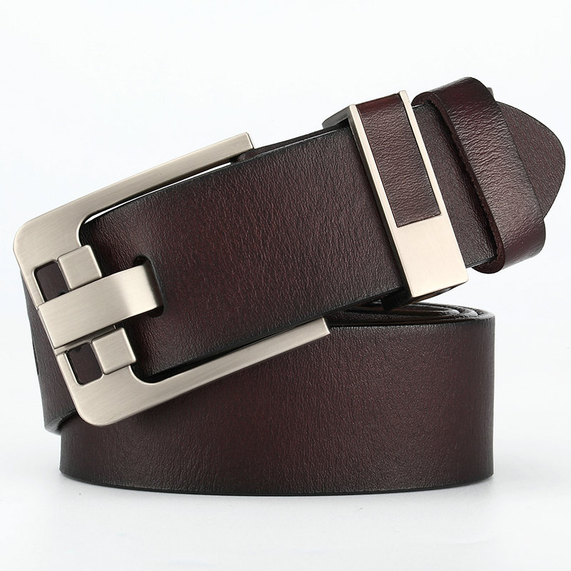 Men Belt Buckle Accessories Black Mens Belts Leather For Jeans Strap Male Jeans Casual Wide Leather Belt For Men New 051