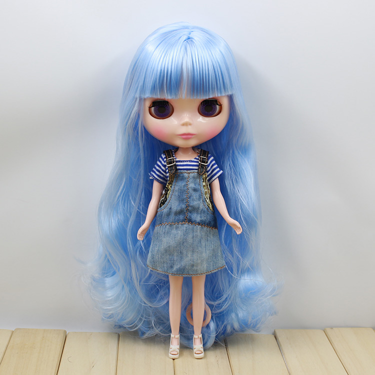 Neo Doll blyth nudeLight blue with bangs long hair cute dolls for sale free shipping neo blyth nude doll light gold hair with bangs suit for diy fashion dolls