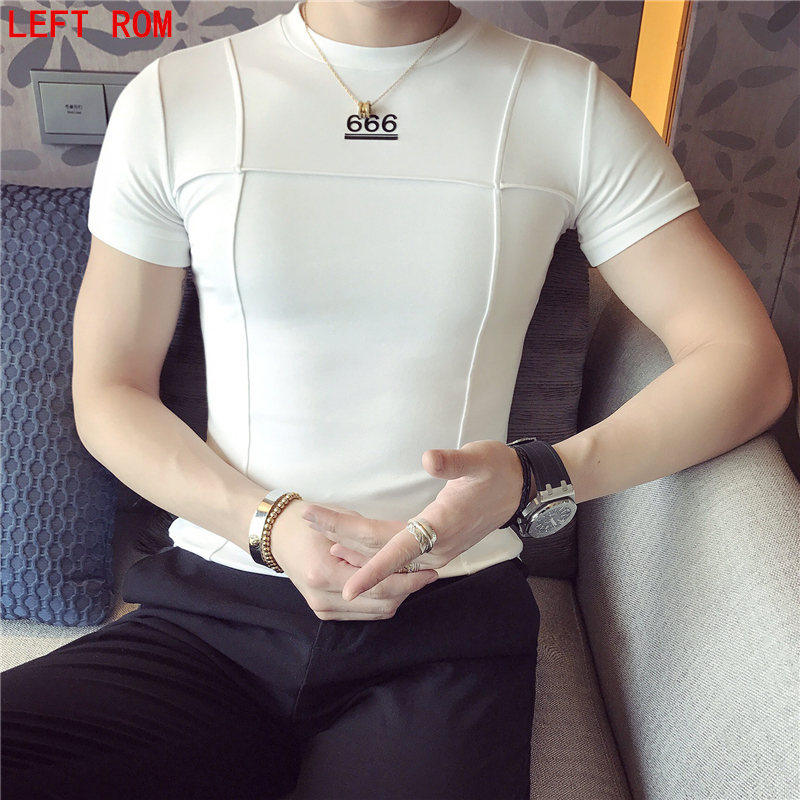 New Letter 666 Print Solid color round neck Short Sleeve Mens Comic Con Cosplay T-shirts Summer Skateboard Tee Boy Skate Slim