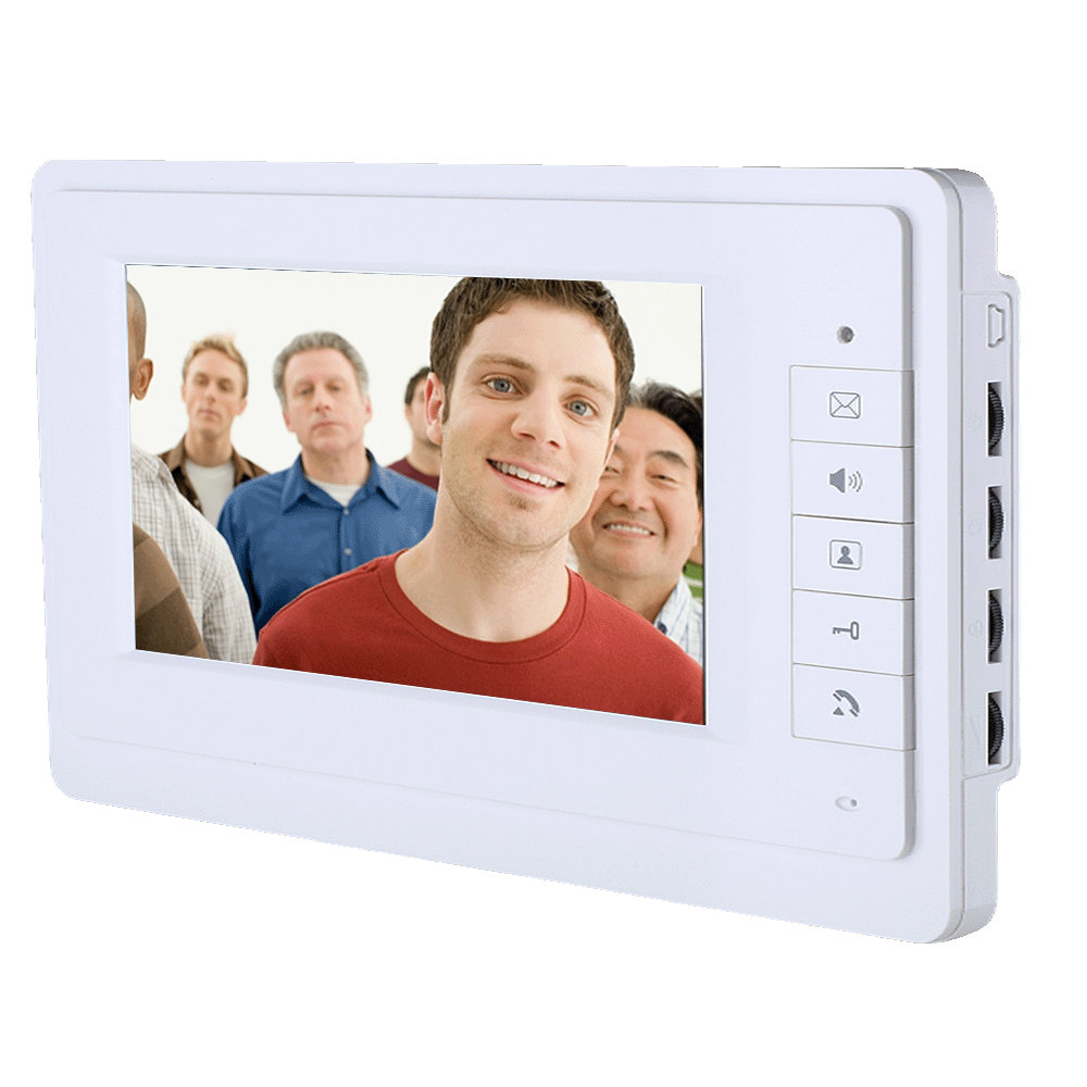 Yobang Security 7 inch video door phone intercom door bell system with IR camera hands- free two monitor video door bell