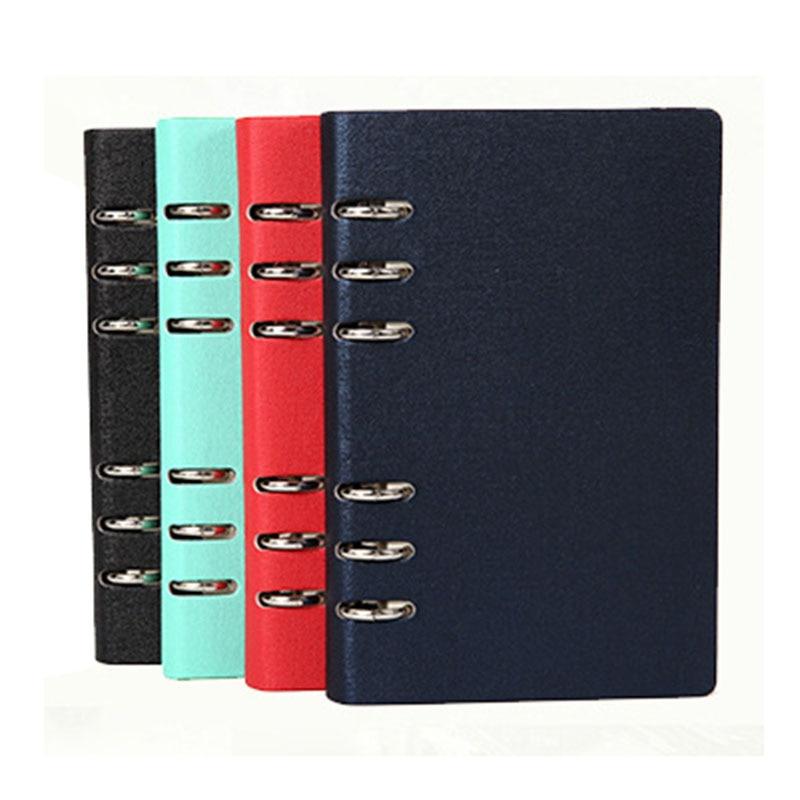 A5A6 Spiral Book Coil Notebook PU Leather Ring Binder