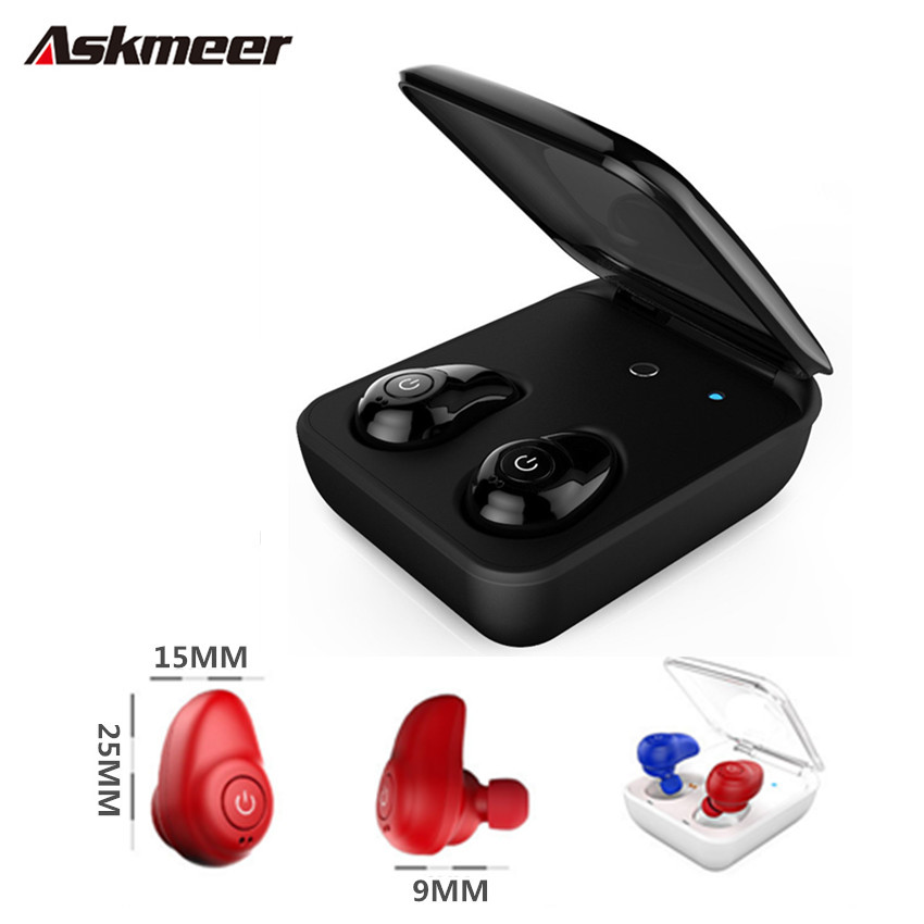 Askmeer I7 Mini TWS Bluetooth Earphone Bass Wireless Stereo Sport Earbuds Headset with Mic for iPhone Xiaomi Samsung Phone hena earphones i7 mini i7 bluetooth wireless headphones headset with mic stereo bluetooth earphone for iphone 8 7 plus 6s