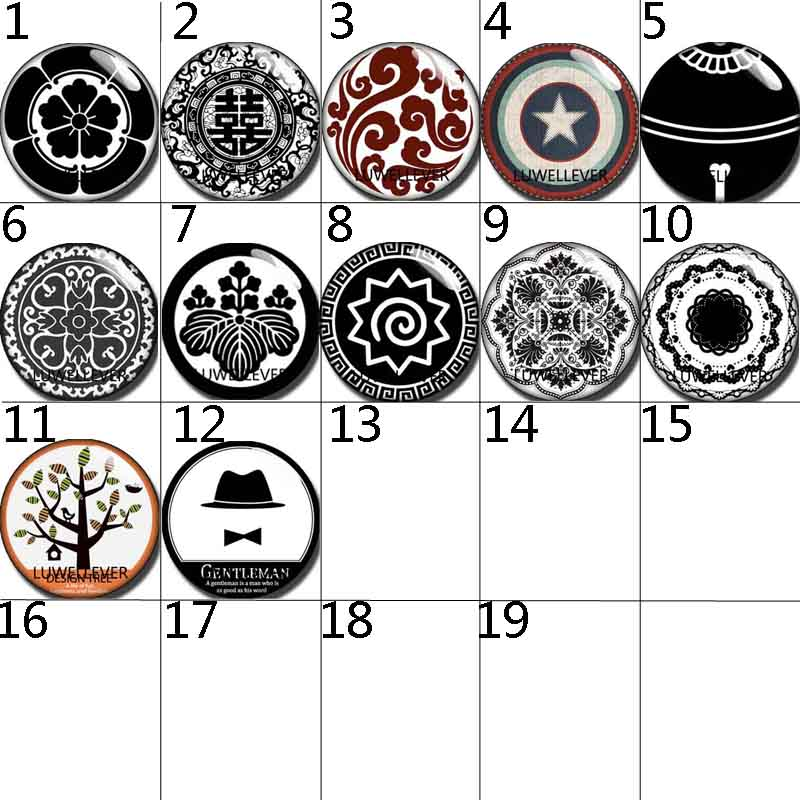 10mm 12mm 14mm 16mm 20mm 25mm 298 12pcs lot Flower Mix Round Glass Cabochons Jewelry Findings 18mm Snap Button Charm Bracelet in Jewelry Findings Components from Jewelry Accessories