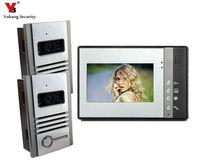 Yobang Security 7 Inch Video Doorbell Intercom Kit Metal Case Door Eye Camera Visible Doorphone Apartment Intercom Entry System