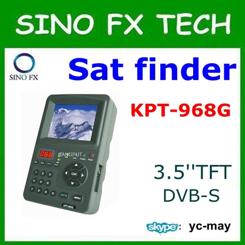 2017 KPT-968G DVB-S MPEG2 signal 3.5Inch TFT LED Multi functional Satellite Finder meter KPT 968G satlink ws 6908 3 5 lcd dvb s fta data digital satellite signal finder meter