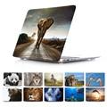 Wildlife Elephant Giraffe Dolphin Dog Animal Prints Case Sleeve For macbook pro 13 15 12 with retina macbook air 11 13 Case
