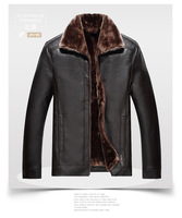 KUEZLE inverno degli uomini giacca di pelle ispessimento caldo locomotiva giacca casual men's uomo giacca in pelle PU pelle artificiale