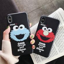 Cute Chibi Maruko Crayon Shinchan Phone Case For iPhone X XR XS Max Soft Back Cover 6 6S 7 8 Plus Sesame Street