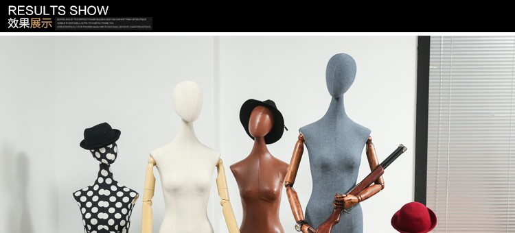 Clothes mannequins female half body mannequin cloth belt female wedding dress mannequin women\'s fabric mannequin (5)