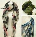 Бесплатная доставка, Горячая распродажа Za новое Trf полиэстер красивый унисекс неоновые цвета камуфляж длинный мыс шарф платки солнце - вс-затенение шарф