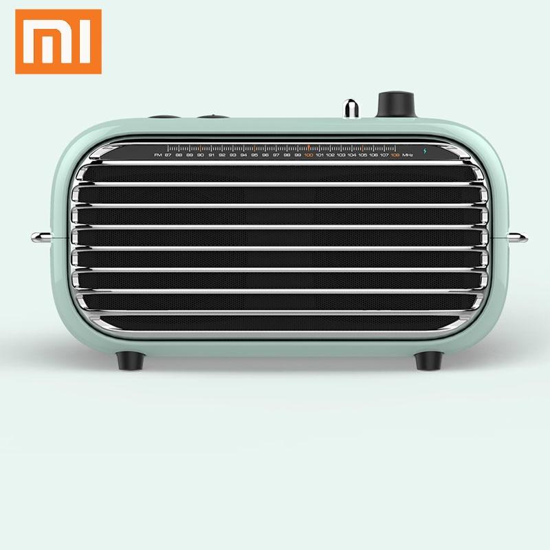 The latest xiaomi mijia LOFREE Bluetooth speaker fashion retro lightweight portable FM radio Bluetooth cable dual