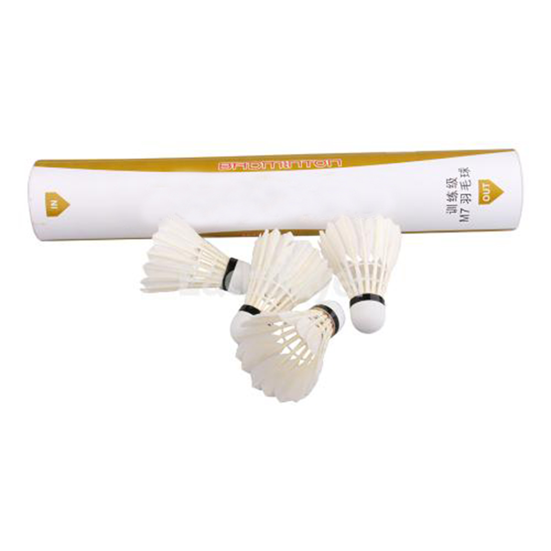 12 Pcs Portable White Goose Feather Training Badminton Balls Shuttlecocks Sport Products