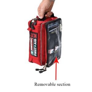 Image 5 - Güvenli Wilderness Survival araba seyahat ilk yardım kiti tıbbi çanta açık havada kamp yürüyüş acil durum kiti arıtma 4 bölümler paketi