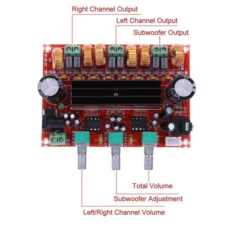 Плата цифрового аудио усилителя TPA3116 2,1, усилители сабвуфера TPA3116D2, динамик, 2*50 Вт + 100 Вт