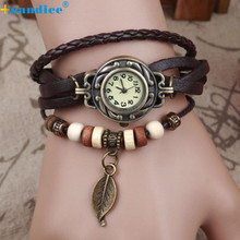Retro Casual Luxury Leaves Leaf Pendant Women Bracelet Wristwatches  Fashion  Women Watches relogio masculino Z508 5Down