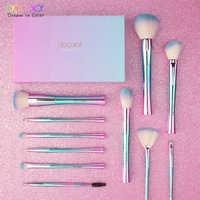 Docolor 11 pcs di Trucco Pennelli Fantasia Kabuki Powder Blending Brush Prodotti di base Ombretto Pennelli Cosmetici Morbidi Capelli Sintetici