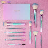 Docolor 11 stücke Make-Up Pinsel Fantasie Kabuki Pulver Blending Pinsel Foundation Lidschatten Pinsel Kosmetik Weiche Synthetische Haar