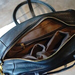 Image 4 - AETOO Simple and practical retro doctor bag cowhide shoulder light oblique cross bag portable commuter leather casual female bag