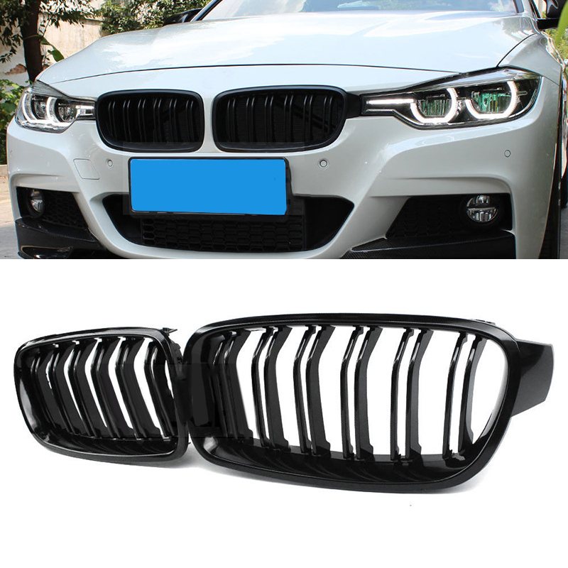 car Grilles Gloss Black Front Kidney Grille replacement accessories parts for BMW F30 F31 320i 328i 335i Sedan/Wagon 2012 2017