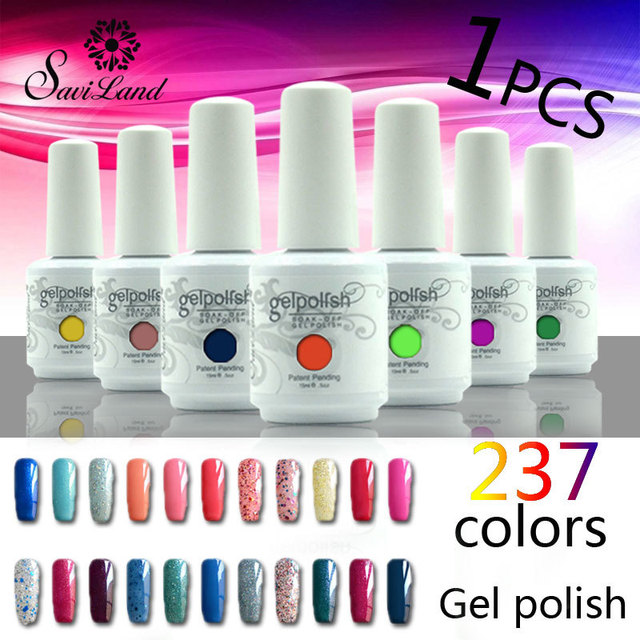 Saviland 15ml gelpolish nail gel soak off gel lacquer nail varnishes manicure removal of the gel varnish