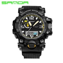 SANDA Fashion Sport Watch Men Calendar Chronograph Backlight Clock For Men Luxury Famous Brand Waterproof Horloges Mannen 732