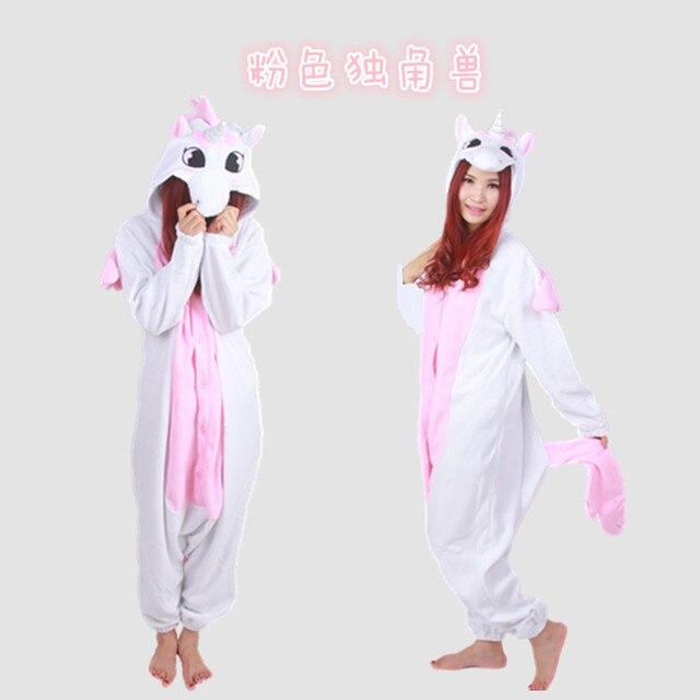 2016 adulte femmes hommes polaire licorne onesies pyjamas