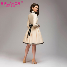 S.FLAVOR women's knee length vintage A-line dress