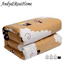 بطانية كهربائية 110 فولت 220 فولت آمنة بغطاء سرير مزود بترموستات مرتبة كهربائية ناعمة بطانية تدفئة كهربائية مدفأة للسخان