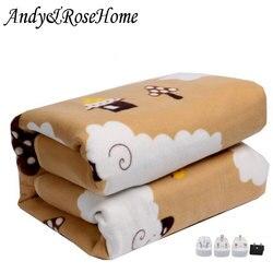 110 V-220 V безопасность плюшевые электрическое одеяло кровать термостат Электрический матрас мягким электрическим подогревом одеяло подогре...