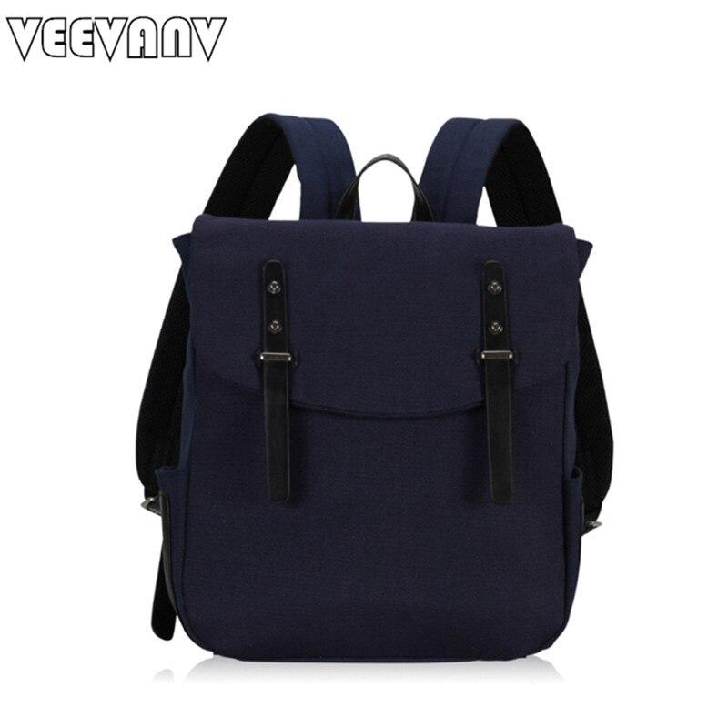 VEEVANV New Korean Style Mens Canvas Backpack Causal Laptop Backpacks School Bag For Girls Teenagers Designer Brand Travel Bags
