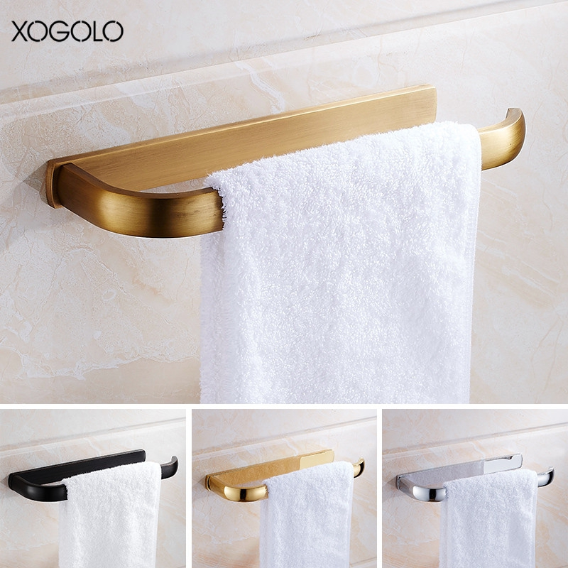 Xogolo Copper Brushed Wall Mounted Single Towel Bars European Style Antique Towel Ring Bathroom Accessories the ivory white european super suction wall mounted gate unique smoke door
