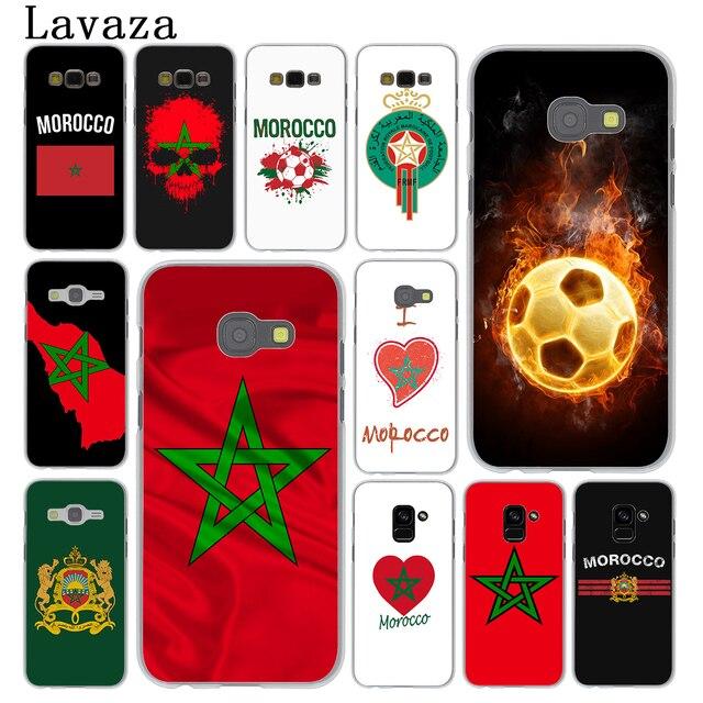 Lavaza Morocco Bóng Đá Bóng Đá cờ Điện Thoại Trường Hợp đối Với Samsung Galaxy A9 A8 A7 A6 Cộng Với 2018 A5 A3 2017 2016 2015 Lưu Ý 9 8 A8Plus