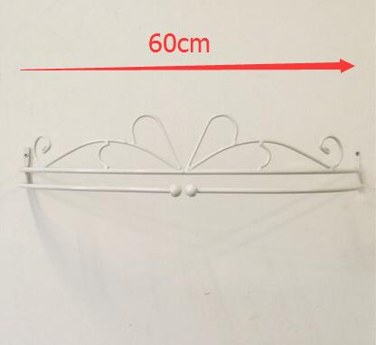 Diameter-60cm, wit of zwart. Single track, smeedijzeren bed frame mantel klamboe, gordijn houder, mode prinses ijzeren rek
