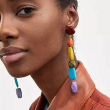 New Colored Earrings Fashion Wooden Beads Tassel 4 color Fine Jewelry
