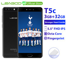 LEAGOO T5C 3GB RAM 32GB ROM Mobile Phone Android 7.0 5.5 Inch FHD Octa Core 13.0MP+2.0MP Dual Cameras Fingerprint 4G Smartphone(China)