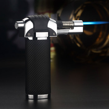 Gas Adjustable Flame Butane Micro Torch Refillable Gas Cigar Lighter Ignition Blow Torch For Outdoor Barbecue Soldering Torch butane gas trip micro blow torch lighter soldering brazing refillable gas tool cigar lighter with box