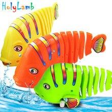 1Pcs Cute Cartoon Bath Fish Wind Up Toys Running Clockwork Classic Toy Newborn Spring for Children