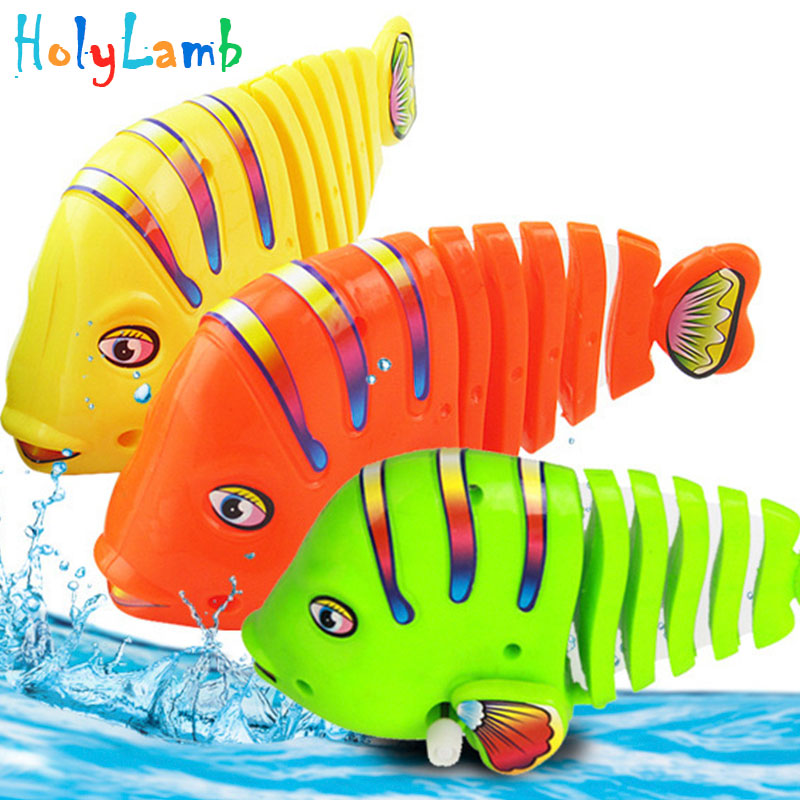1Pcs Cute Cartoon Bath Fish Wind Up Toys Running Clockwork Classic Toy Newborn Spring Toy Toys for Children