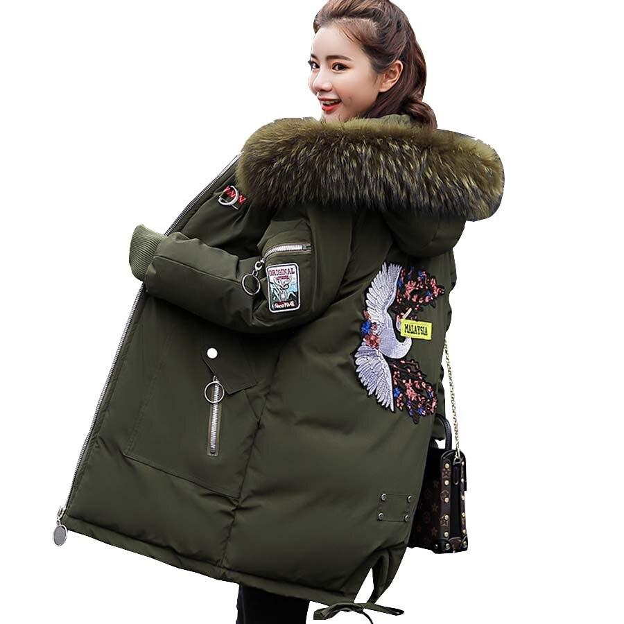 Jacket Women Winter 2018 Long Sleeve Hooded Cotton Padded Winter Coat Women Thick Warm Parka Outwear Plus Size Women Clothing