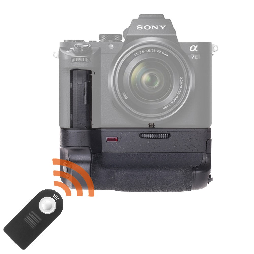 JINTU Power Battery Grip Pack Holder +IR Remote for SONY A7II A7RII A7SII DSLR Mirrorless Camera